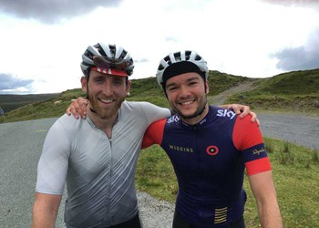 Charity challenge has ups and downs for cycling duo!